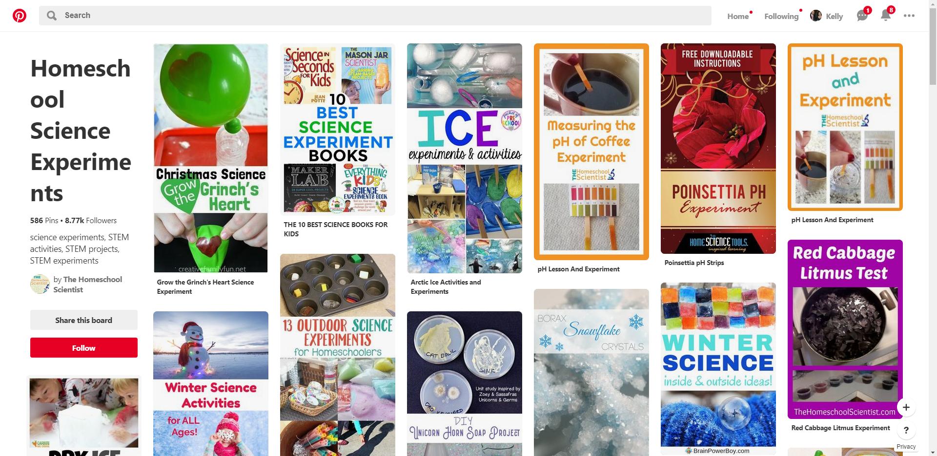 Using Pinterest For School