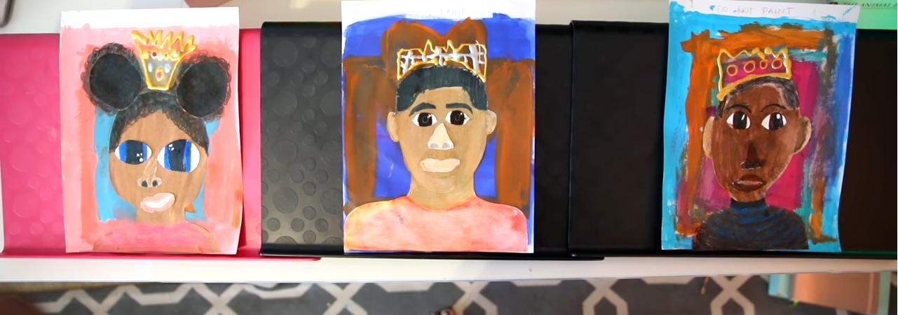 Homeschool Art Self Portraits